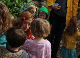 Outdoor storytelling in the summer