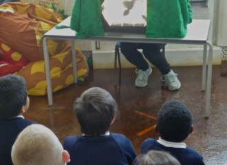 Shadow puppet storytelling